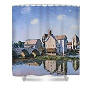 The Bridge Of Moret In The Sunlight Shower Curtain