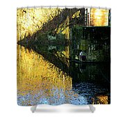 The Bridge On The River And Its Shadow. Shower Curtain