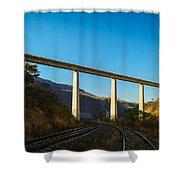 The Bridge Over The Railways Shower Curtain