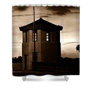 The Bridge Tenders Box Circa1926 Shower Curtain