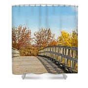 The Bridge To Autumn Shower Curtain