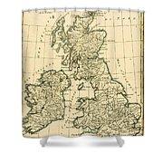 The British Isles Shower Curtain