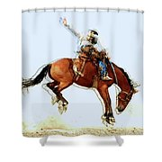 the Bronc Buster Shower Curtain