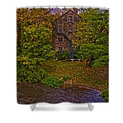 The Bronx River Stone Mill Shower Curtain