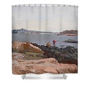 The Bronx Rocky Shore Shower Curtain