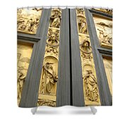 The Bronze Doors Shower Curtain