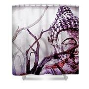 The Buddhist Sticks  Shower Curtain