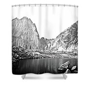 The Bugaboo Spires Shower Curtain