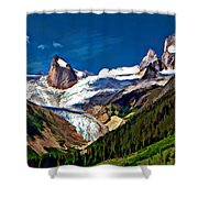The Bugaboos Shower Curtain