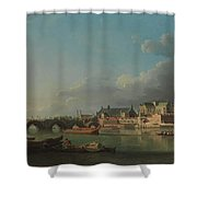 The Building Of Westminster Bridge Shower Curtain