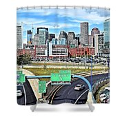 The Buildings Of Boston Shower Curtain