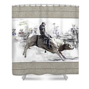 The Bull Rider Shower Curtain