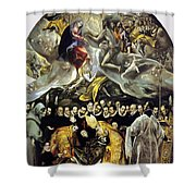 The Burial Of The Count Of Orgaz 1587 Shower Curtain