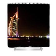 The Burj Al Arab At Night Shower Curtain