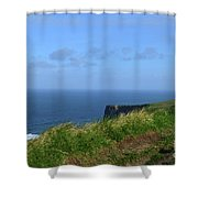 The Burren Pathway Along The Cliff's Of Moher Shower Curtain