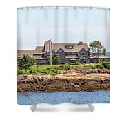 The Bush Family Compound On Walkers Point Shower Curtain
