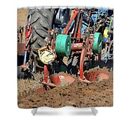 The Business End Of A Tractor Two  Shower Curtain