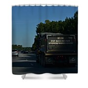 The Busy Highway Shower Curtain