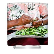 The Butterbean Lady Shower Curtain