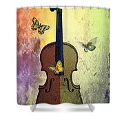 The Butterflies And The Violin Shower Curtain