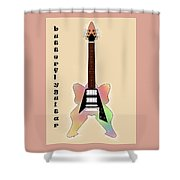 The Butterfly Guitar Shower Curtain