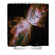 The Butterfly Nebula Shower Curtain by Stocktrek Images