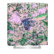 The Butterfly Shower Curtain
