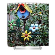 The Buttlerfly Landed Shower Curtain