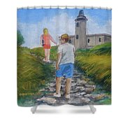 The Cabo Rojo Light House In Puerto Rico Shower Curtain