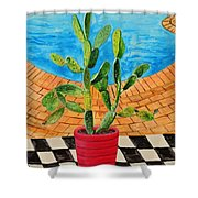 The Cactus From Nigeria Shower Curtain