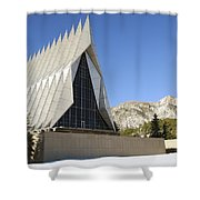 The Cadet Chapel At The U.s. Air Force Shower Curtain