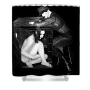 The Cage 1 - Self Portrait Shower Curtain