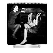 The Cage 2 - Self Portrait Shower Curtain