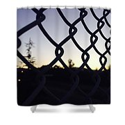 The Caged Morning  Shower Curtain