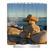 The Cairns Of Hunts Point Nova Scotia Shower Curtain