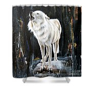 The Call Shower Curtain by Sandi Baker