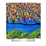 The Calming Tree  Shower Curtain