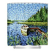 The Calypso Shower Curtain
