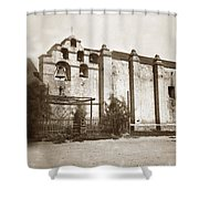 The Campanario, Or Bell Tower Of San Gabriel Mission Circa 1880 Shower Curtain