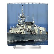 The Canadian Patrol Frigate Hmcs Shower Curtain