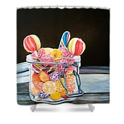 The Candy Jar Shower Curtain