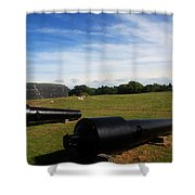 The Cannons At Fort Moultrie In Charleston Shower Curtain