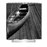 The Canoe Shower Curtain by David Patterson