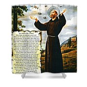 The Canticle Of The Creatures By St. Francis Of Assisi Shower Curtain