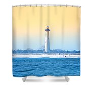 The Cape May Light House Shower Curtain