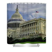 The Capitol Under Construction Shower Curtain