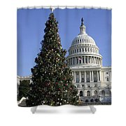 The Capitol Christmas Tree Is Decorated Shower Curtain