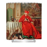 The Cardinal's Favourite Shower Curtain