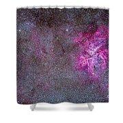 The Carina Nebula And Surrounding Shower Curtain