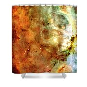 The Carina Nebula Panel Number One Out Of A Huge Three Panel Set Shower Curtain